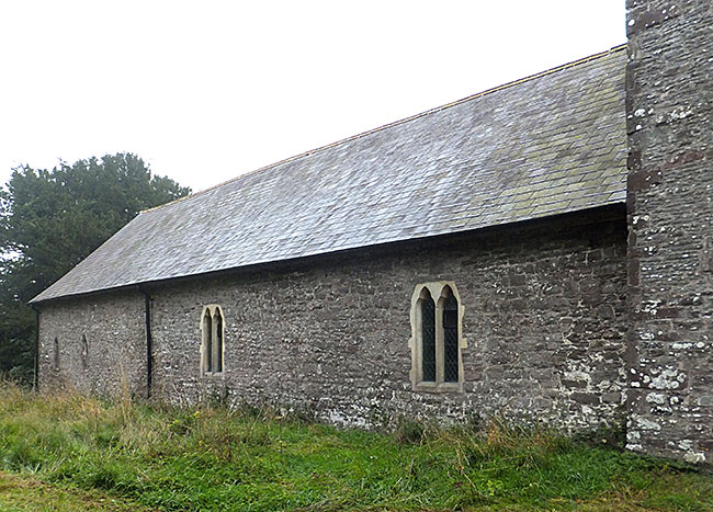St Cynog: new stone cross and lime mortar pointing